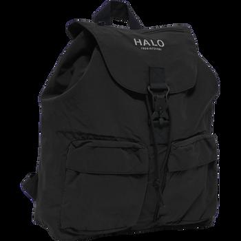 HALO NYLON BACKPACK, BLACK, packshot