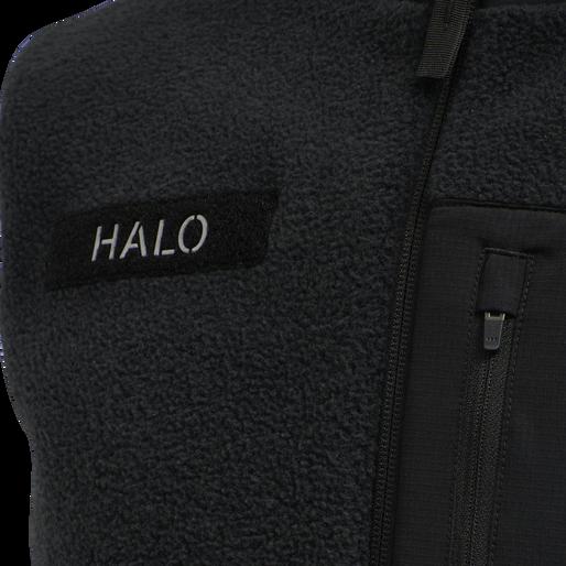 HALO FLEECE VEST, BLACK, packshot
