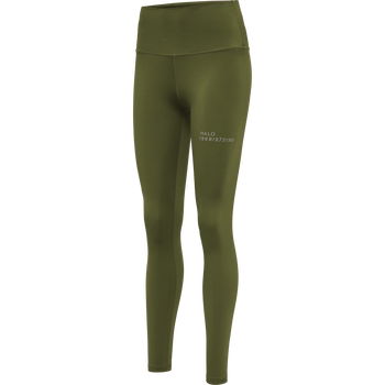 HALO WOMENS HIGHRISE TIGHTS, WINTER MOSS, packshot