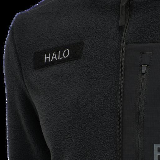 HALO FLEECE JACKET, BLACK, packshot