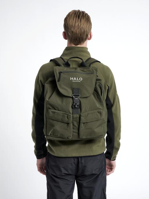 HALO NYLON BACKPACK, IVY GREEN, model