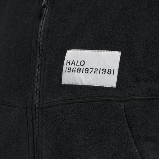 HALO ZIP FLEECE, BLACK, packshot