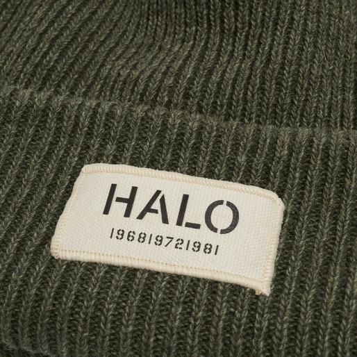 HALO WOOL BEANIE, DARK GREEN MELANGE, packshot