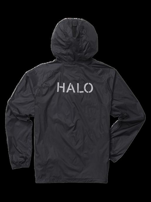 HALO PACKABLE JACKET, BLACK, packshot