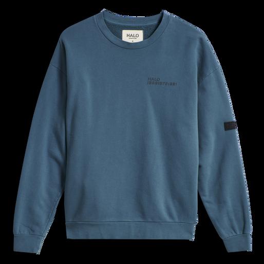 HALO COTTON CREW, WHITE/DRESS BLUE, packshot