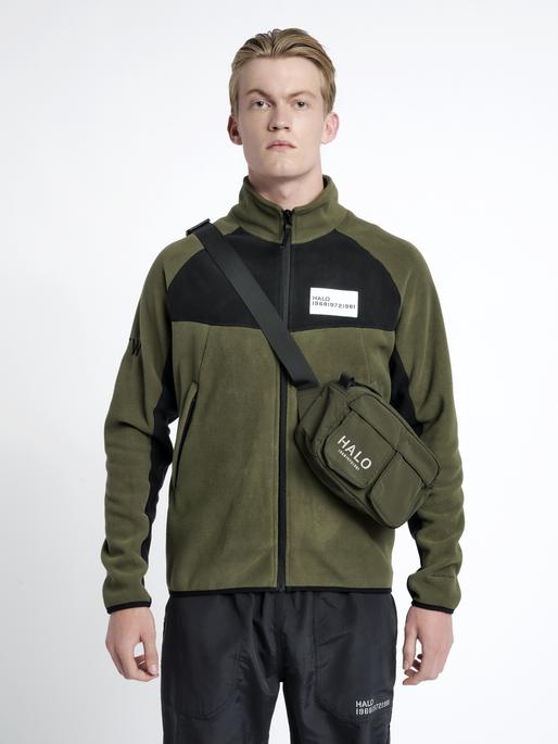 HALO NYLON WAIST BAG, IVY GREEN, model