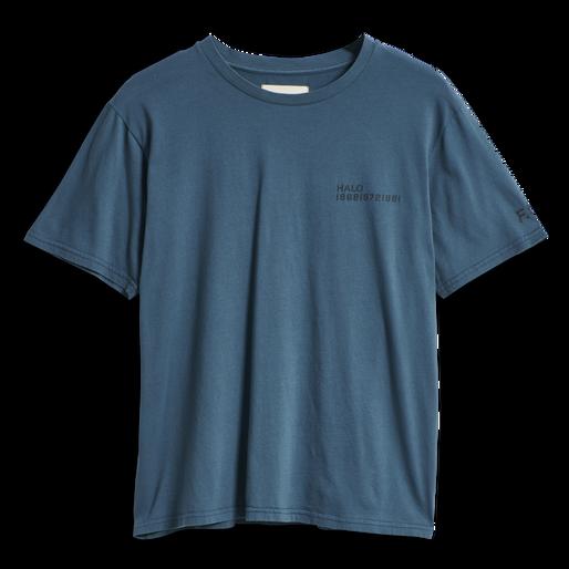 HALO COTTON TEE, WHITE/DRESS BLUE, packshot