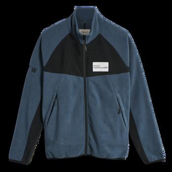 HALO ZIP FLEECE, WHITE/DRESS BLUE, packshot
