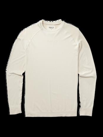 HALO SEAMLESS LONGSLEEVE, BONE WHITE, packshot